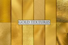 Check out Gold Foil Textures, Gold Backgrounds by PaperElement on Creative Market