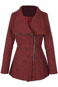 Cupshe Seven Wonders Asymmetric Wool Coat