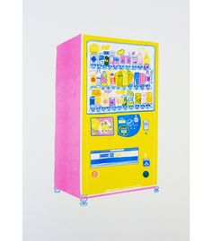 Risograph Vending Print by Hennie Haworth #illustration
