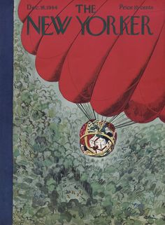 "The New Yorker - Saturday, December 16, 1944 - Issue # 1035 - Vol. 20 - N° 44 - Cover by : ""Alain"" - Daniel Brustlein"