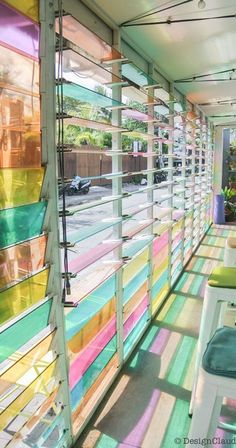 Stained glass window blinds #StainedGlassKitchen