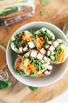 Vegan Teriyaki Tofu Summer Rolls
