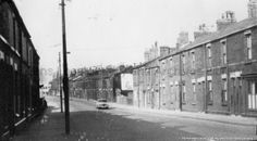Black and white photograph showing Park Road, St. PH - Photographic collections 17 - Photographic collections that were created by individual depositors 3 - Black and white photographs showing various streets in St. St Helens Town, Saint Helens, Family Album, Working Class, Family History, North West, Old Photos, Britain, 1960s
