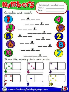 Numbers - Worksheet 1