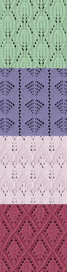 Узоры спицами (46 узоров со схемами).