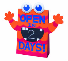 Another fun way to countdown. We could also use to show the hours our book fair is open each day.