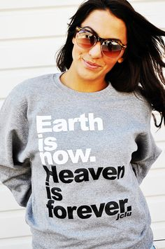 $24.99 -HeavenIsForeverSweater by JCLU Forever Christian t-shirts
