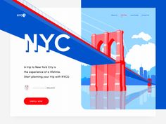 NY City guide landing page motion designYou can find Landing pages and more on our website.NY City guide landing page motion design Layout Design, Interaktives Design, Web Design Trends, Web Layout, Flat Design, Berlin City Guide, New York City Guide, Motion Design, Design Websites
