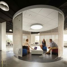 Awesome place to work or have brainstorming sessions at the G&W Laboratories in Piscataway, New Jersey. Designed by The Eagle Group. | via @officesnapshots >Follow us on Instagram for more pictures like this! @zestdesk_anywhere