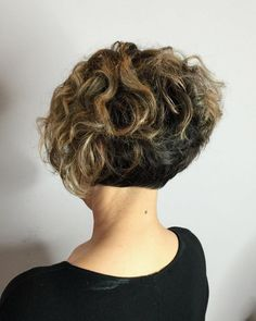 Two-Tone Short Curly Bob                                                       …