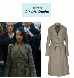 """On the blog: Olivia Pope's (Kerry Washington) cashmere coat   """"Say Hello to My Little Friend"""" (Ep. 304) #tvstyle #tvfashion #outfits #fashion"""
