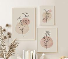 Botanical Wall Art, Botanical Prints, Floral Wall Art, Photowall Ideas, Minimalist Art, Minimalist Painting, Diy Canvas Art, Printable Wall Art, Diy Art