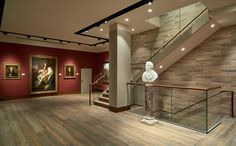 """Philip Mould Art Gallery Supplied with """"Antique Washed"""" Chevron Parquet and Engineered Planks Grand Designs, Window Design, Wooden Flooring, Interior Lighting, Ground Floor, Design Projects, Art Gallery, House Design, Pall Mall"""