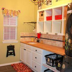 Bright and Cheery Laundry Room