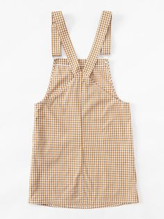 SheIn offers Detachable Strap Gingham Pinafore Dress & more to fit your fashionable needs. Look Fashion, Korean Fashion, Fashion Outfits, Womens Fashion, Fashion Design, Skirt Outfits, Casual Outfits, Cute Outfits, Casual Dresses