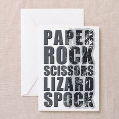 paper rock scissors lizard spock Greeting Card