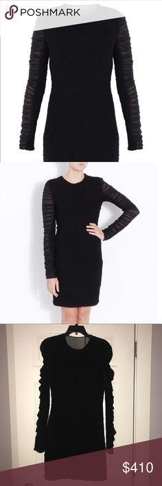 Alexander Wang Crew neck Knit Sheer Dress 4 NWOT. Size 4. Sheer ruffle sleeves. Alexander Wang Dresses Mini