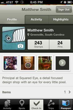 GoWalla Tabs, User Profiles