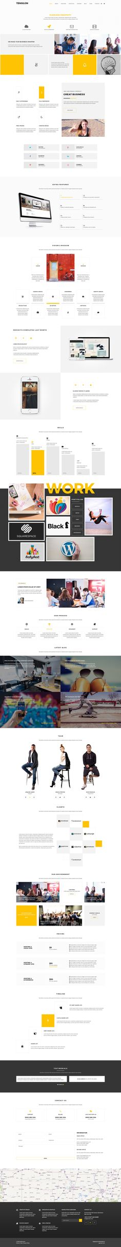 Tenso is a minimal creative Multipurpose web