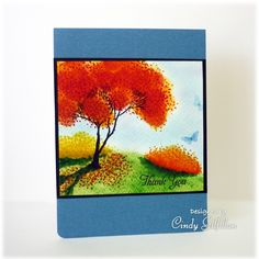 Cindy Gilfillan - Layered Autumn Trees - see the tutorial here https://www.youtube.com/watch?v=nopQfFtdmp4&feature=share