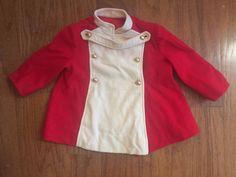 Vintage little girls groovy Kute kiddies1960s mod scooter military red jacket-2 #KuteKiddies #Coat #Everyday
