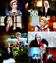 Cruella and Carlos de Vil Cameron Boyce Descendants, Disney Channel Descendants, Rotten To The Core, Once Up A Time, Dove Cameron, Ouat, Good Movies, Disneyland, Reign