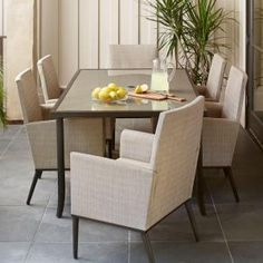 Hampton Bay Aria 7-Piece Patio Dining Set FCS80233-ST at The Home Depot - Mobile