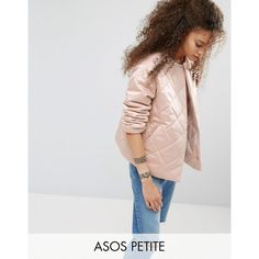 ASOS PETITE Luxe Quilted Jacket (110 CAD) ❤ liked on Polyvore featuring outerwear, jackets, cream, petite, asos, snap jacket, cream jacket, petite jackets and petite quilted jacket