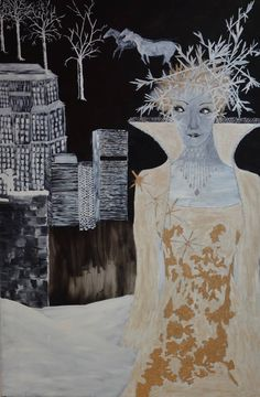 Original Classical mythology Painting by Nicole Theresia Spitzwieser Paintings For Sale, Original Paintings, Original Art, Oil Painting On Canvas, Canvas Art, Mythology Paintings, Silverpoint, Black And White Painting, Black White