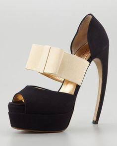 Horn-Heel Bow d\'Orsay Pump by Walter Steiger at Neiman Marcus.