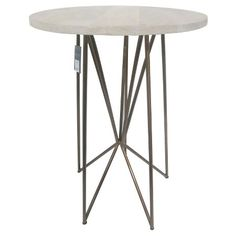 Threshold Gold Metal Wire Accent Table