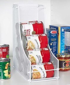 Effortlessly grab exactly what you need from the pantry with this can organizer.