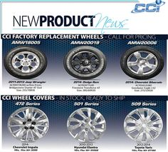 Replacement Wheels & Wheel Covers  Call us today 800-999-8987