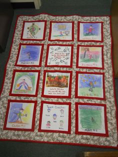 Our Nationals baseball team (Rocky Hill league in Knoxville, TN) made this quilt for a Little Leaguer in Joplin, Mo., who lost everything in the tornado