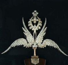 19th century hair | late 19th century diamond hair ornament/brooch( or aigrette?), circa ...