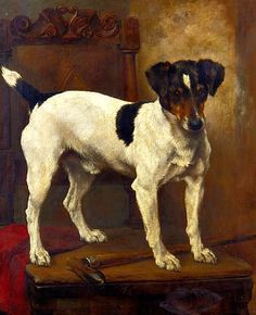 """Lucy Ann Leavers  Terrier  19th century          He looks just like my toy fox terrier, """"Pal""""."""