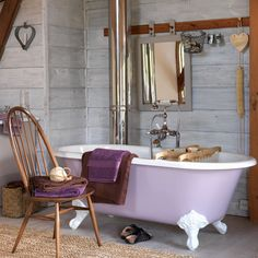 Modern Country Bathroom: With a Splash of Gold!