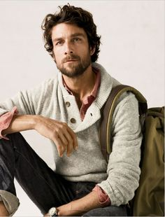 rugged male style--for some reason it is always rugged. I like this put together but messy look for men. its very manly which is always a good thing