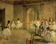 Ballet hall of the opera in the Rue Peletier- Edgar Degas