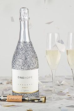 ONEHOPE Glitter Celebration Gift Set, includes California Glitter Edition Brut Champagne, 750 mL Wine, 2 Champagne Flutes, Confetti Tube ~ Wine Mixed Packs ~ Mom Says It's Cool !!! - Unique Gift Ideas & More.