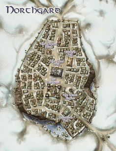 Northgard by butterfrog on DeviantArt Fantasy City Map, Fantasy World Map, Fantasy Castle, Fantasy Places, Fantasy Forest, Plan Ville, Environment Map, Pathfinder Maps, Pen & Paper