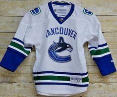 Vancouver Canucuks Toddler Kids (Ch 4-7 ) Reebok NHL Hockey Jersey White Blue #Reebok #VancouverCanucks