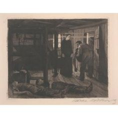 From Dallas Museum of Art, Käthe Kollwitz, The End from The Weaver's Revolt Aquatint and etching with sandpaper, 9 × 12 in Schmidt, Kathe Kollwitz, Dallas Museums, Through Time And Space, Macabre, Art Museum, Printmaking, Artsy, Sandpaper