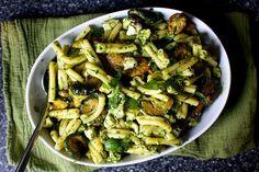 Ottolenghi's Pasta and Fried Zucchini Salad - Smitten Kitchen #vegetarian #ILovePasta #Meatless