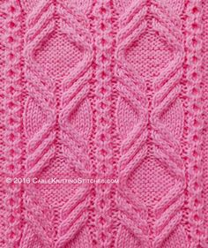 This cable pattern uses a combination of the Triple Cable and Little honeycomb stitch