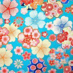 Beautiful Kimono Print Japanese fabric colorful by beautifulwork. $8.50, via Etsy.