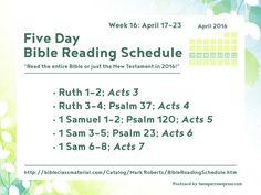 Full schedule: http://bibleclassmaterial.com/Catalog/Mark%20Roberts/BibleReadingSchedule.htm #Bible #ReadingSchedule
