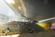 Montreal Museum of Fine Arts Pavilion 5 Finalist Proposal,© Luxigon