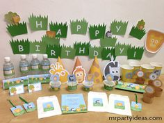 Jungle Animals Birthday Party #printables. By mrpartyideas.com.