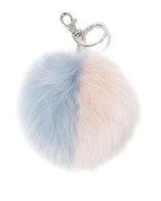 The Furkissed Fox Two-Tone Pom Pom In Pastel